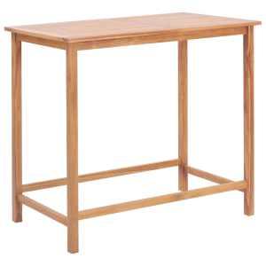 vidaXL Lauko baro stalas, 120x65x110 cm, tikmedžio med. masyvas
