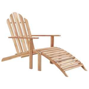 vidaXL Adirondack kėdė su atrama kojoms, tikmedžio mediena