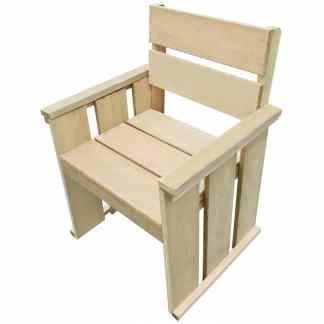 vidaXL Lauko kėdė, FSC impregnuota pušies mediena