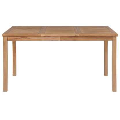 Lauko valgomojo stalas, 150x90x77 cm, tikmedžio med. masyvas