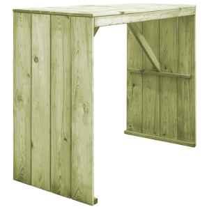 vidaXL Baro stalas, 130x60x110cm, FSC impregnuota pušies mediena