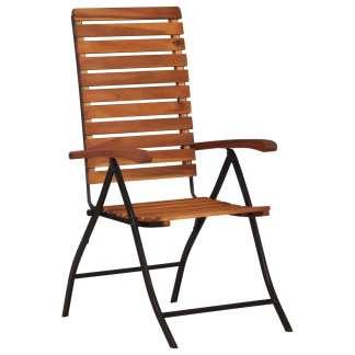 vidaXL Atlošiamos sodo kėdės, 2 vnt., akacijos medienos masyvas