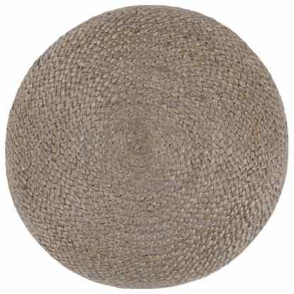 Pufas, šviesiai pilkos sp., 45x30cm, džiutas, rankų darbo