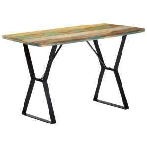 vidaXL Valgomojo stalas, 120x60x76 cm, perdirbtos medienos masyvas