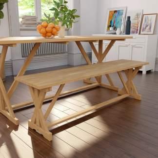 vidaXL Suoliukas, tikmedžio medienos masyvas, 120x35x45cm