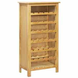 vidaXL Spintelė vynui, 56x32x110cm, ąžuolo medienos masyvas
