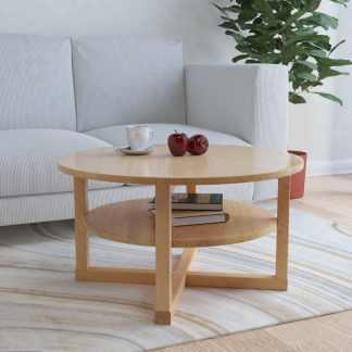 vidaXL Kavos staliukas, 75x40cm, ąžuolo medienos masyvas