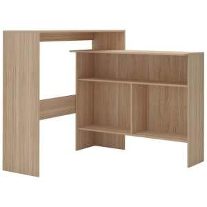 Baro stalas su 2 stalviršiais, ąžuolo sp., 130x40x120cm