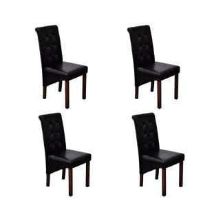 Valgomojo kėdės, 4 vnt., juodos