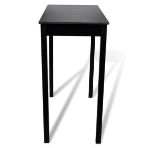 Baro stalas, MDF, juodas, 115x55x107 cm