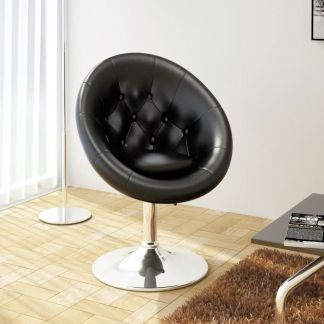 vidaXL Baro kėdė, dirbtinė oda, juoda