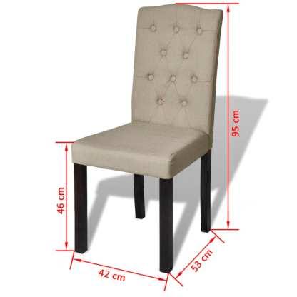 Valgomojo kėdės, 4 vnt., smėlio spalvos