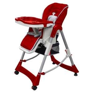 vidaXL Mažylio maitinimo kėdutė, raudono vyno sp., regul. aukščio