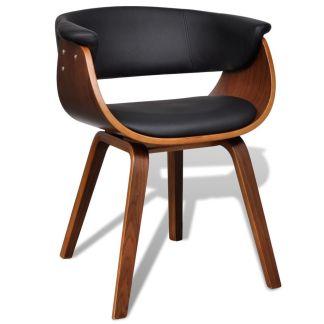 vidaXL Valgomojo kėdė, medinis rėmas, dirbtinė oda