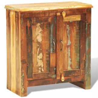 vidaXL Perdirbtos masyvios medienos spintelė su 2 durimis, vintažinė