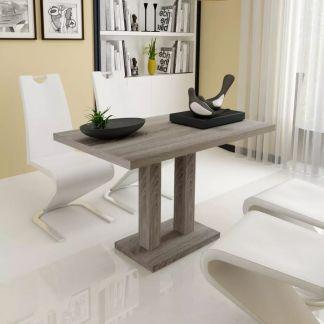 vidaXL Valgomojo stalas, MDF, ąžuolo imitacija