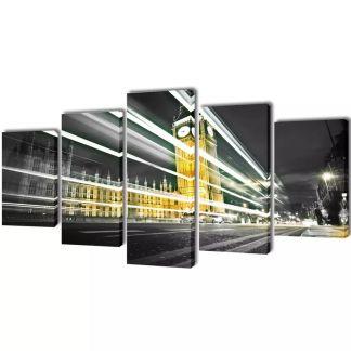 """Fotopaveikslas """"Londono Didysis Benas"""" ant Drobės 200 x 100 cm"""