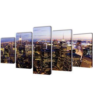 """Fotopaveikslas """"Niujorkas iš Paukščio Skrydžio"""" ant Drobės 200×100 cm"""