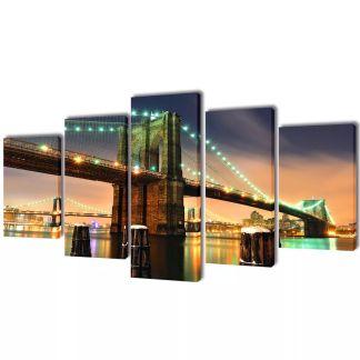 "Fotopaveikslas ""Bruklino Tiltas"" ant Drobės 100 x 50 cm"