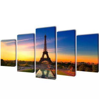"""Fotopaveikslas """"Eifelio Bokštas"""" ant Drobės 100 x 50 cm"""