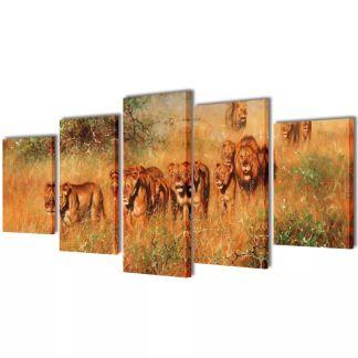 "Fotopaveikslas ""Liūtai"" ant Drobės 100 x 50 cm"