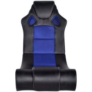 Muzikinė supamoji kėdė, dirbtinė oda, juodai mėlyna