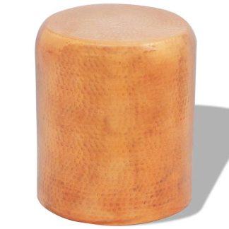 vidaXL Kalto aliuminio taburetė/šoninis staliukas, žalvario/vario sp.