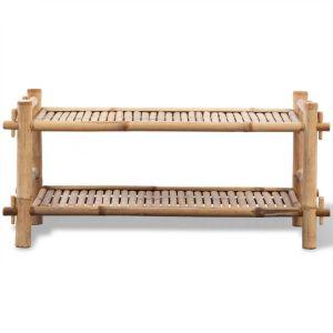 2 Lygių Stovas Batams iš Bambuko