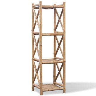 4 Lygių Lentyna iš Bambuko, Kvadratinė