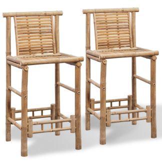 vidaXL Baro kėdės, 2 vnt., bambukas