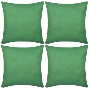4 Žali Pagalvėlių Užvalkalai, Medvilnė, 50 x 50 cm