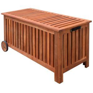 vidaXL Sodo daiktadėžė, 118x52x58cm, mediena