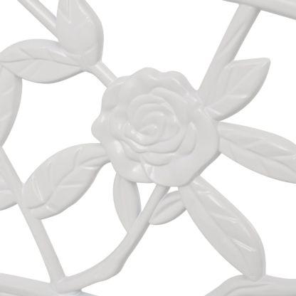Sodo suoliukas, 100 cm, aliuminis, baltas