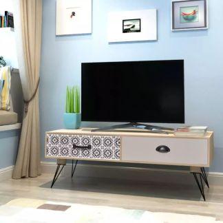 vidaXL Pristatomas staliukas televizoriui, Rudos spalvos