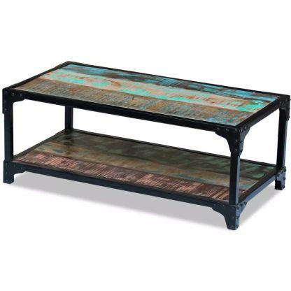 vidaXL Perdirbtos medienos kavos staliukas