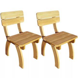 vidaXL Sodo kėdės, 2 vnt., impregnuota pušies mediena