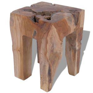 Kėdutė, masyvi tikmedžio mediena, 30x30x40 cm