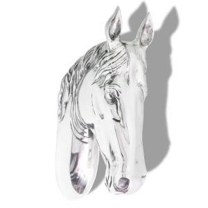 Arklio galvos dekoracija, sieninė, aliuminis, sidabro sp.