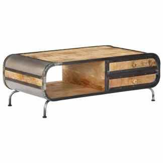 vidaXL Kavos staliukas, 100x50x35 cm, mango medienos masyvas