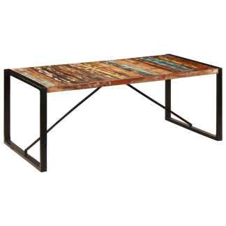 vidaXL Valgomojo stalas, 200x100x75cm, perdirbtos medienos masyvas