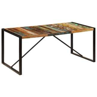 vidaXL Valgomojo stalas, 180x90x75cm, perdirbtos medienos masyvas