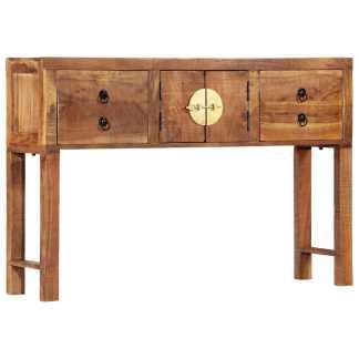 vidaXL Konsolinis staliukas, 120x30x80cm, akacijos medienos masyvas