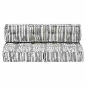 Pagalvėlė sofai iš palečių, pilkos sp., audinys, skiautinė