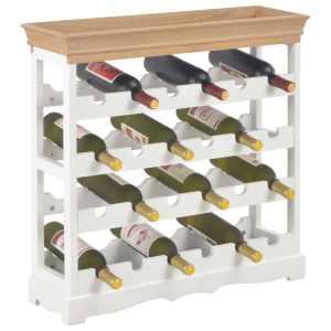 Spintelė vynui, baltos spalvos, 70×22,5×70,5cm, MDF
