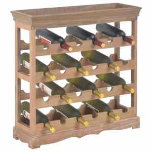 Spintelė vynui, rudos spalvos, 70×22,5×70,5cm, MDF