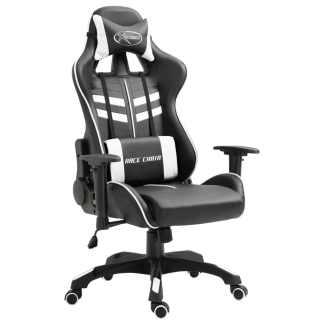 vidaXL Žaidimų kėdė, balta, poliuretano putos