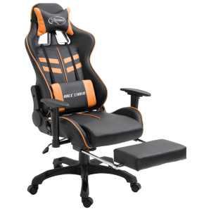 Žaidimų kėdė su atrama kojoms, oranžinė, poliuretano putos