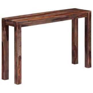 vidaX Konsol. staliukas, pilkas, 120x30x76 cm, rausv. dalb. med. mas.