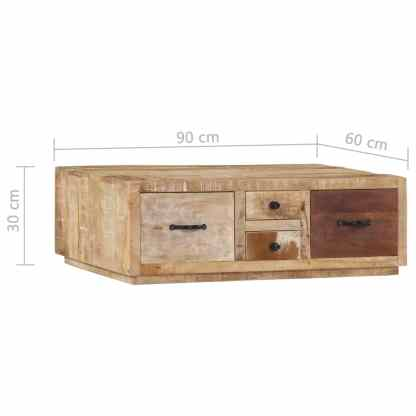 Kavos staliukas, 90x60x30cm, mango medienos masyvas