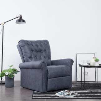vidaXL Atlošiamas krėslas, pilkos spalvos, dirbtinė versta oda